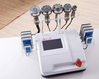 Wholesale EU tax free Ultrasonic Liposuction Cavitation vacuum bipolar multipolar Radio Frequency RF pads Diode Lipo Laser slimming Machine