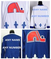 Wholesale HOT SALE Men s Quebec Nordiques Custom Hockey Premier Jerseys High Quality Stitched Any Name Number You Decide Two Colors Allowed