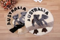 australian market - 2016genuine Australia merino sheepskin lambskin cushion soft warm wool cushion Australian koala cushion for tourist market