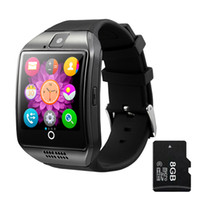 beautiful watch dial - Smart Watch Q18 Arc Clock With Sim Card NFC Bluetooth Connection for iphone Android Phone Smartwatch Beautiful Than U8 DZ09