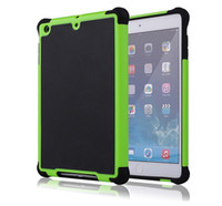 back drop - For ipad mini Dual Layer PC Silicone Hybrid Football Hard Back Case For iPad Mini inch Black