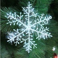 Wholesale Christmas Ornaments Christmas Tree Decoration Silver Wire Snowflake cm