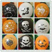 Wholesale 2016 Halloween Pumpkin Skull Balloons Bat inch Halloween Balloons Decorations Inflatable Balloon Holiday Party Children Adult Toys