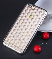 apple etching - Luxury Ultra Thin Slim Crystal Clear Phone Electroplating Laser Etching Soft TPU Cover Case For iPhone S inch Free Ship MOQ