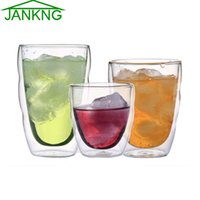Wholesale JANKNG Clear Handmade Heat Resistant Double Wall Glass Mini Tea Drink Cup Healthy Drink Mug Coffee Cup Insulated Glass