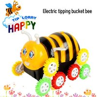 bee tricks - Electric Tipping Bucket Bee Kids Toy Caterpillar Trick Bee Cars Toys Brinquedos Juguetes Gifts for Children