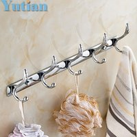 Wholesale Multi function Bathroom wall mounted hook door Hook Rack Hanger Hats clothes towel Chrome finish YT