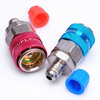 Wholesale HVAC Car Automotive AC R134a System Quick Couplers Connectors Adapter quot Flare