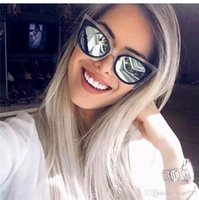 Wholesale Cat Butterfly Crystal - new fashion women brand designer sunglasses FD sunglasses 0017 cat eye crystal frame coating lens polarized lens top quality