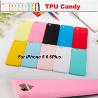 apple shaped candy - Untra Thin Candy Colors Heart Shape i Phone Case Soft TPU Silicone Cellphone Cases Cover For iPhone se S S Plus