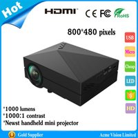 Wholesale Factory newest lumens LED mini pocket handheld HD micro projector perfect home cinema projector