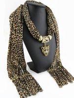 Wholesale Hot sale Fashion leopard leopard head pendant scarf Woman Tassel polyester scarf Ms accessories scarf Size cm