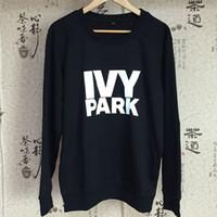 beyonce hoodie - S XXL Beyonce ivy park letter hoodies tracksuit moletom sweatshirt polerones mujer jogging femme hoody black white gray