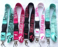 Wholesale fashion Popular i love pink clothing Logo lanyard neck Lanyard mobile phone Strap Lanyard