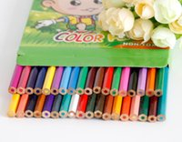Wholesale PrettyBaby Low Price Colors Wooden Color Pencils for Secret Garden Coloring Books Drawing Painting School Appliance rainbow pencilBy DHL