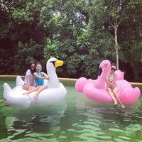 Wholesale Free DHL Shipping Hot Selling M Swan Pool Toys Inflatable Float Flamingo Floating Pontoon Floats for Adults and Kids with Retail Package