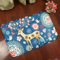 Wholesale 2016 Discus the fawn cartoon flannel rectangle bathroom sitting room the bedroom carpet non slip household MATS