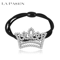 Wholesale Hair accessories LA PASION Korean fashion AAA Zircon crown hair ring exquisite simplicity female factory direct sale
