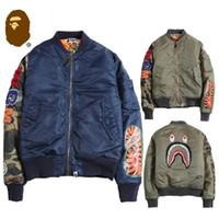 army pattern jacket - Flight Pilot Jacket Men Bomber Ma1 Men Bomber Jacket Nasa Air Force Embroidery Baseball Military Jacket