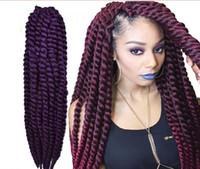 Wholesale havana mambo twist extra full volume crochet braid braids inch color1 b blue purple burg grey for off