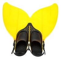 Wholesale Teen Teenager Mermaid Swim Fin Diving Monofin Swimming Foot Flipper Y2373