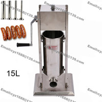 Wholesale Better Quality Stainless Steel L Hand Operated Home Sausage Maker Vertical Sausage Filler Machine Hotdog Stuffer