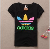 Wholesale New summer fashion Brands Women s T shirt Femme Letter Print Short Sleeve O Neck Tees women Casual T Shirts ladies tops Factory Outlets