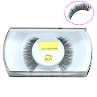 Wholesale High Quality D Natural Bushy Cross False Eyelashes Mink Hair Handmade Eye Lashes Strengthen Fake Eyelash