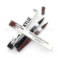Wholesale KYLIE kit Eyeliner single head eyeliner not dizzy catch not rub off Dark brown Makeup