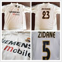 Wholesale 03 season Real Madrid retro jersey Owen Beckham Ronaldo jersey
