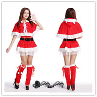 animated christmas movies - Women Dress Tunic Christmas Sexy Cosplay Lovely Costumes Role play Role play animated cartoon Costumes Cosplay contain belt B0625