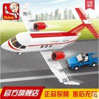 airs education - New Sluban Air Plane C aircraft concept Building Blocks Bricks Transport M38 B0365 Toys Gift Compatible with Legoe Education