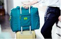 Wholesale 5pcs Korean Travel Folding waterproof Nylon Bag Big Capacity Travel Stuff Sacks Brand Flight Trolley Stuff Packs cm High Quality