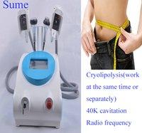 Wholesale HOT in1 Cool Sculpting Fat Freezing Cryolipolysis Ultrasonic k Cavitation RF Slimming machine Zeltiq cryo