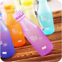 Wholesale 5 Candy Colors Unbreakable Frosted Leak proof Plastic Cup mL BPA Free Portable Water Bottle for Travel Yoga Running Camping