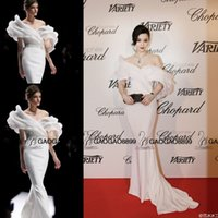 beaded fans - Fan Bingbing in Ralph Russo Couture Cannes Red Carpet Celebrity Dresses Dubai Arabic Middle East Off shoulder Mermaid Prom Dress