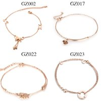 anklet mixes - Mixed order Stainless Steel rose gold women anklets
