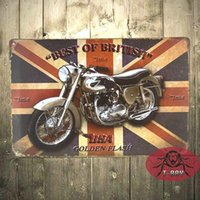 Wholesale Best of British BSA Vintage Tin signs art wall decor iron Paintings Bar Home Wall painting CM C