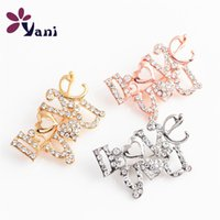 asian dresses for women - I LOVE YOU Brooch Pins with Rhinestones Brooches Jewelry for Wedding Women Dress Brooch Pins for Floating Locket