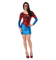 adult spiderman outfit - New Adult Womens Sexy Halloween Party Superman Costumes Outfit Fancy Spiderman Cosplay Dresses