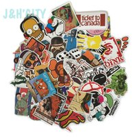 Wholesale 100 Pack Random music film Vinyl Skateboard Guitar Travel Case sticker Car decal Cute Stickers fashion funny sticker