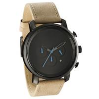 america digital - Hot style in Europe and America fashion casual men watch three six pin Wristwatches retro matte leather waterproof watch quartz watch