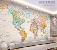 bedroom paint colours - 3d wallpaper custom photo non woven mural wall sticker d Elegant light colour version of map word painting d wall room murals wallpaper