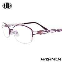 Wholesale 2016 Retro Luxury Women Glasses Frame Clear Lens Oculos Alloy Lady Eye Glasses Floral Optical Frames Vintage Female Eyewear Multi color