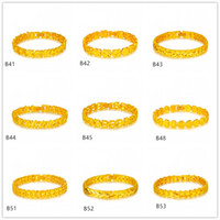 american fashion online - V shape lace Circular section yellow gold bracelet pieces mixed style GTKB7 Online for sale fashion women s k gold bracelet