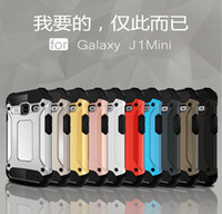 Wholesale Slim Armor Hybrid Rugged Shockproof Tough Hard Cover Case for Samsung Galaxy J1 mini J2 J5 J7 A3 A5 A7 A9 Grand prime