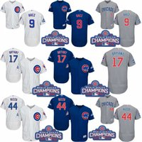 Wholesale 2016 World Series Champions Patch Chicago Cubs Javier Baez Kris Bryant Anthony Rizzo Jersey Baseball Jerseys S XL