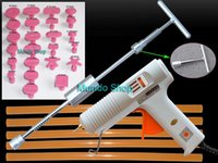 Wholesale One Set PDR in Heavy Duty T Handle Puller Paintless Dent Repair Tools W Hot Gun Glue Tabs Strong Glue Stick