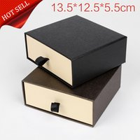 Wholesale In stock high end specialty paper drawer belt boxes gift boxes short wallet gift box packaging