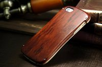 aluminum wood screws - iphone s se Case Retro Aluminum Metal Bumper Cases Wood Wooden Case with Screw Small Waist Cover cases for iphone s NEW